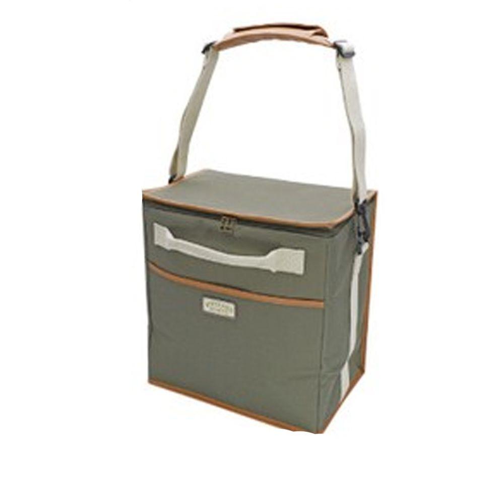 日本現代百貨 - 立體方形 保溫保冷袋/購物袋-20-墨綠 (30x20x32cm)
