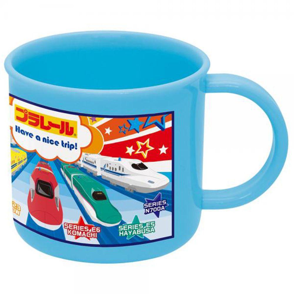 SKATER 塑膠水杯/漱口杯-鐵道王國-藍-200ML
