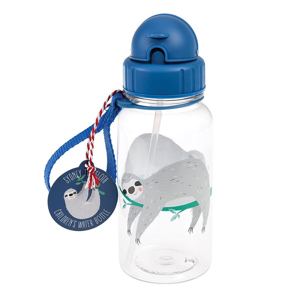 英國 Rex London - 兒童吸管水瓶-樹懶(500ML)