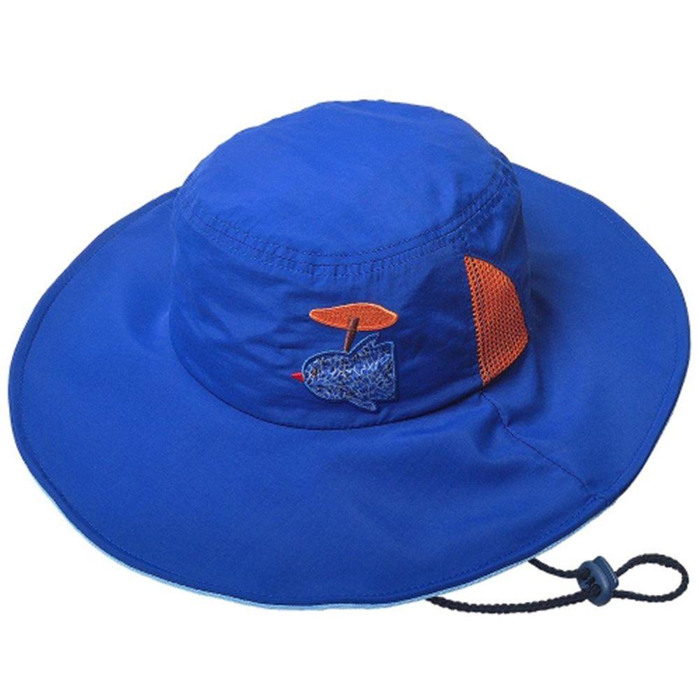 韓國 Victoria & Friends - (剩M)抗UV防水軟鋼絲遮陽帽-湛藍