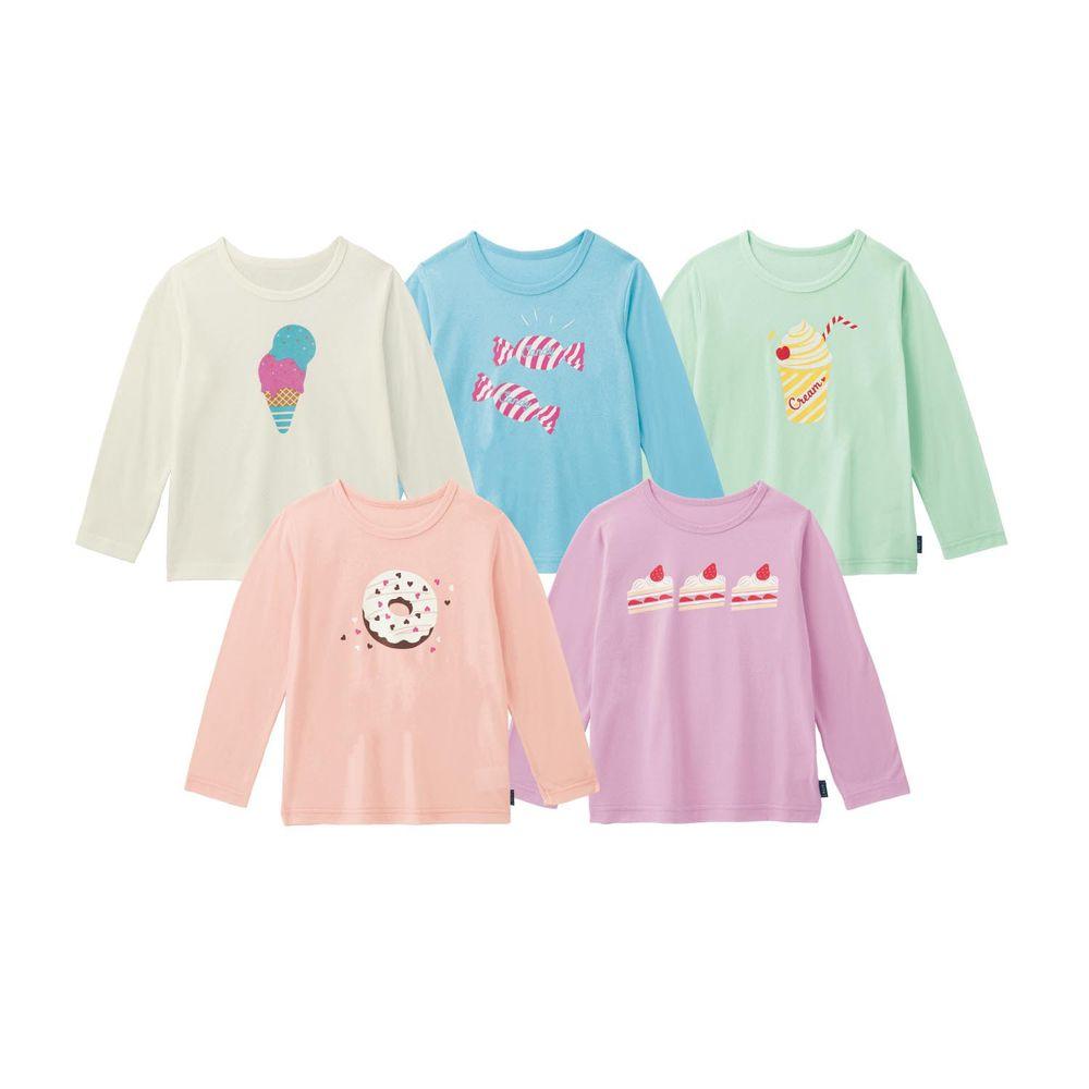 日本千趣會 - 超值T恤五件組(長袖)-甜點樂園
