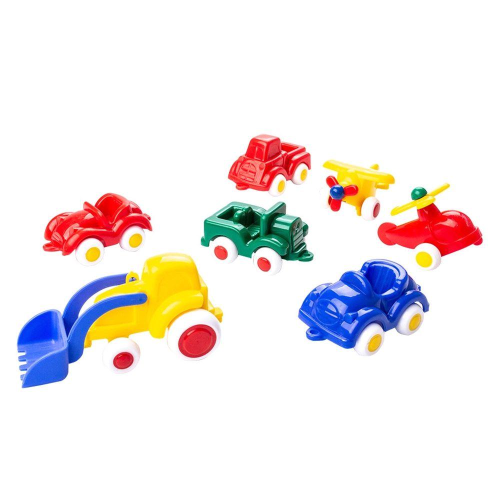 瑞典Viking toys - 迷你交通小車隊(7件組)-7cm