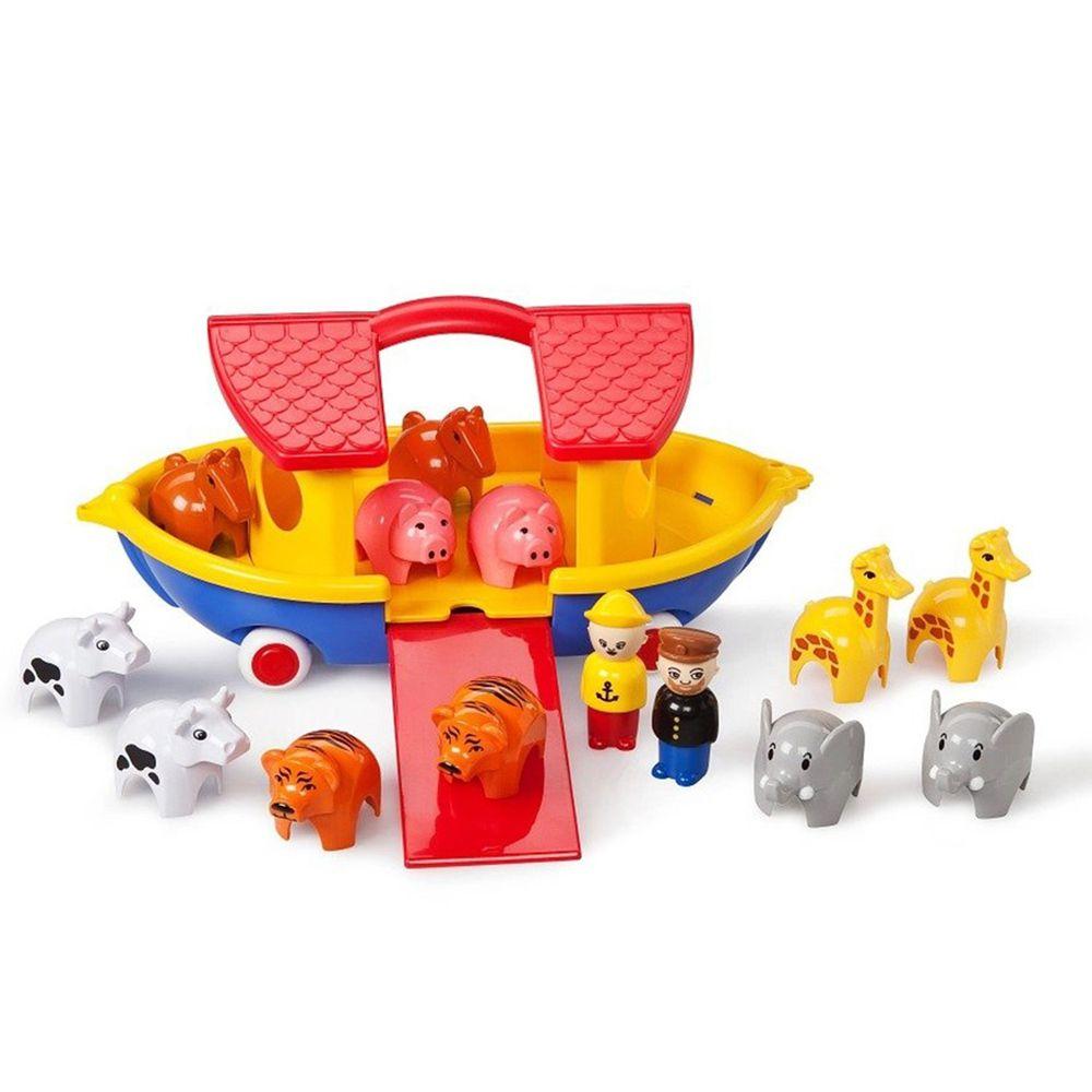 瑞典Viking toys - 動物水上方舟(含12隻動物與2隻人偶)