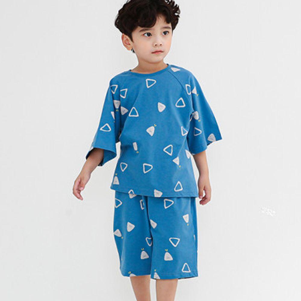 韓國 Ppippilong - 無螢光棉舒適寬版套裝-三角幾何
