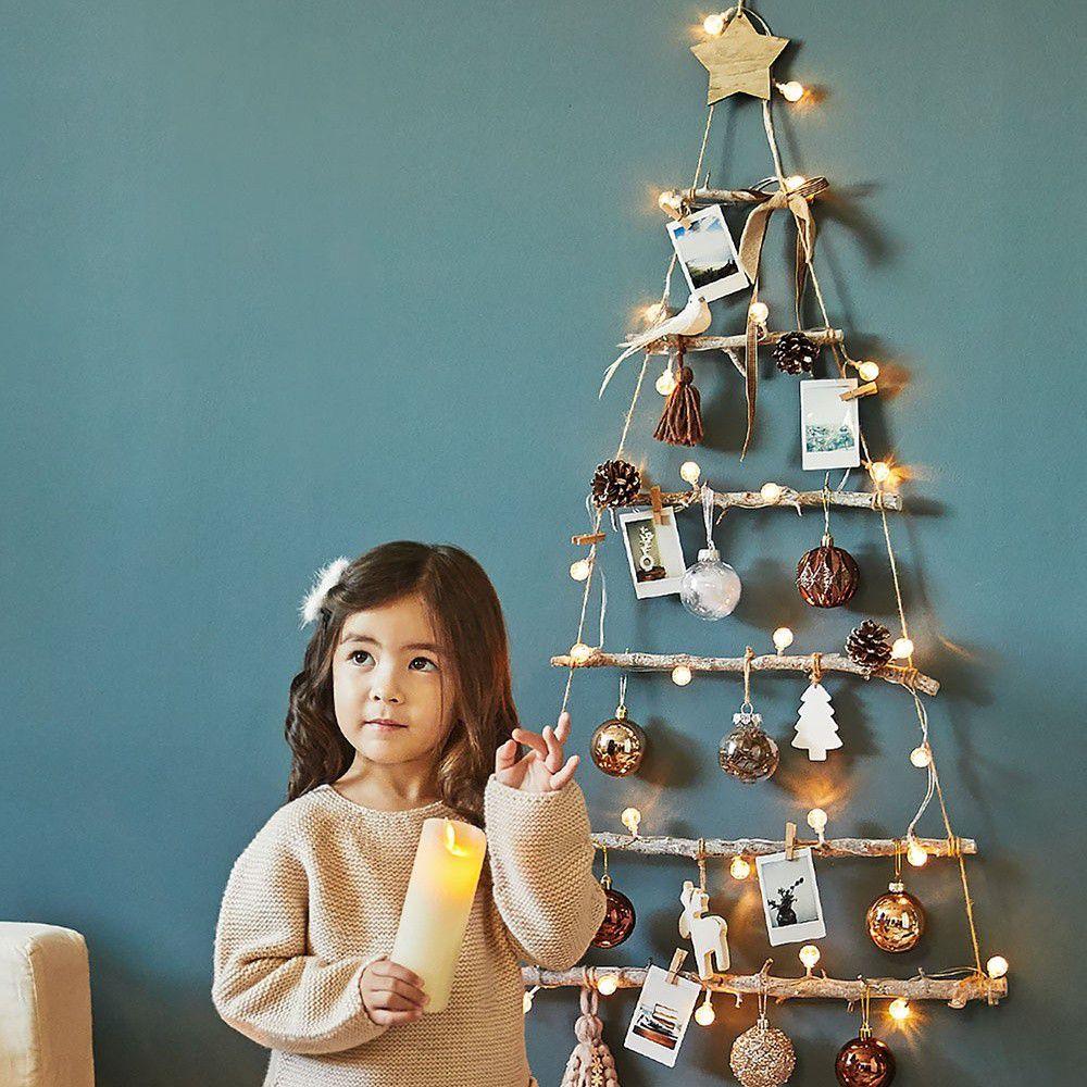 韓國 - 聖誕樹/聖誕壁飾燈-金色派對 (樹高80cm,樹寬68cm)