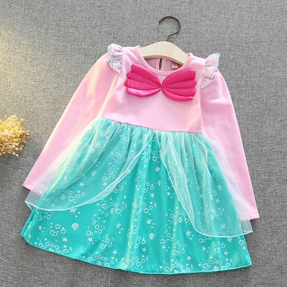長袖造型公主裙-美人魚