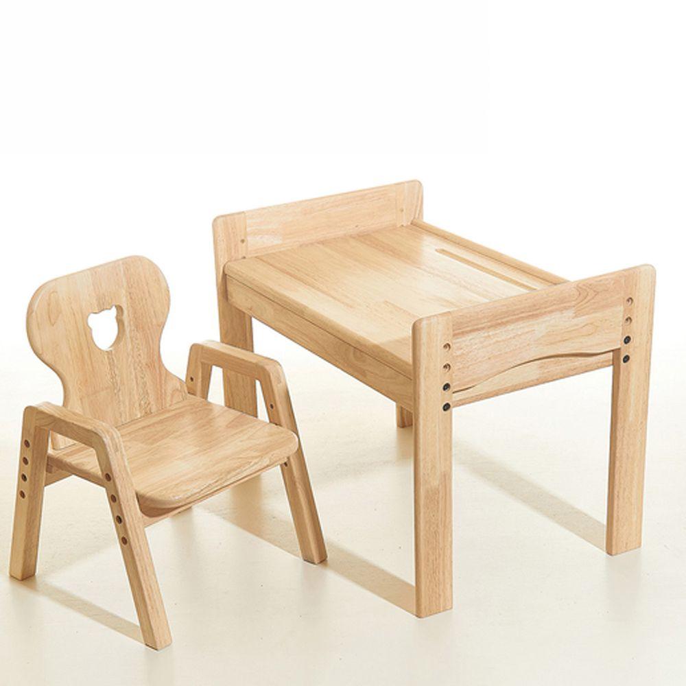 環安家具 - 【一般款】幼兒成長桌椅組/一桌一成長椅-小熊椅