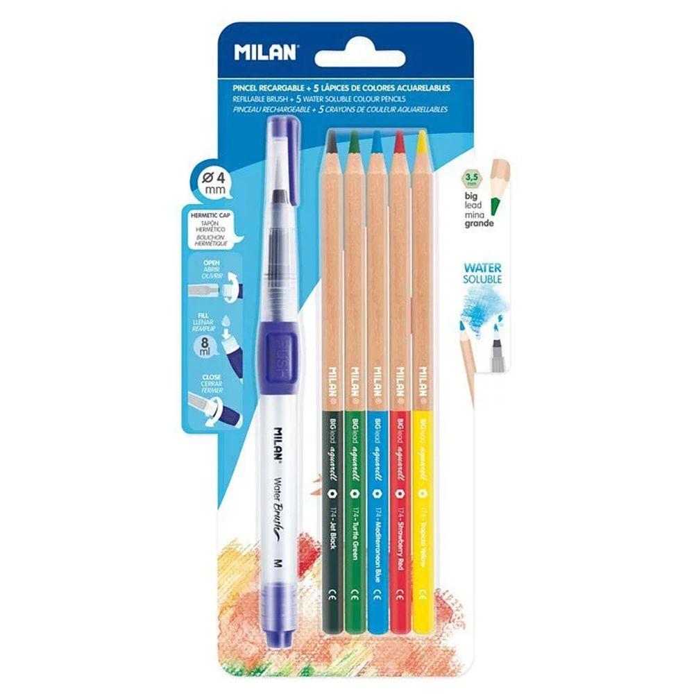 MILAN - 水溶性色鉛筆5色+水筆