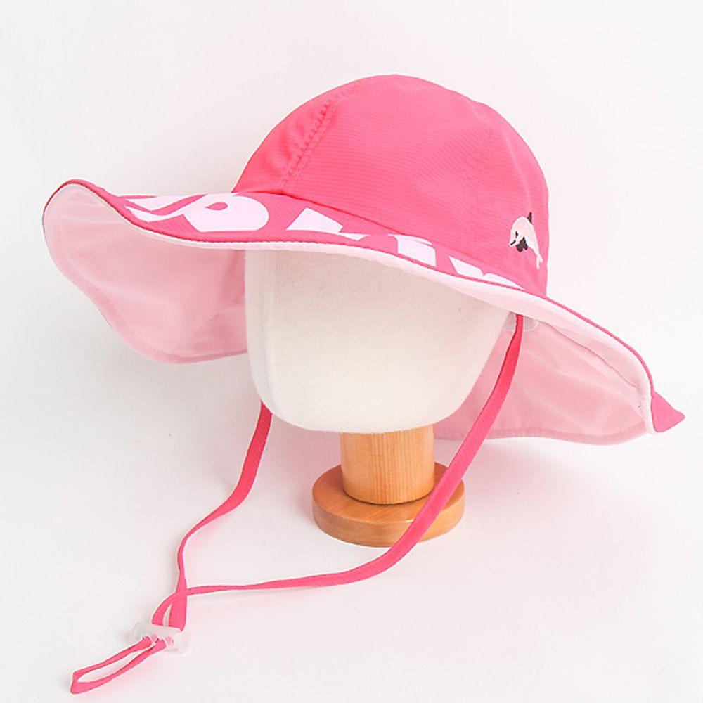 韓國 Babyblee - 雙色可塑型遮陽帽-粉紅 (頭圍:52cm)