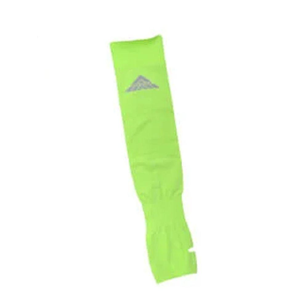 貝柔 Peilou - 高效涼感防蚊抗UV袖套(加大)-素面反光款-螢光黃