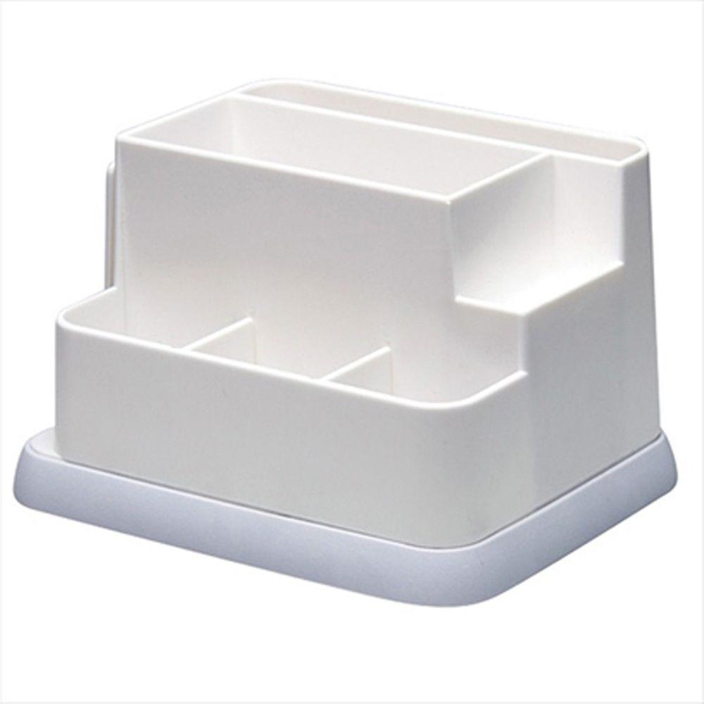 日本文具 SONIC - 桌上文具分隔收納盒(底部軟墊設計)