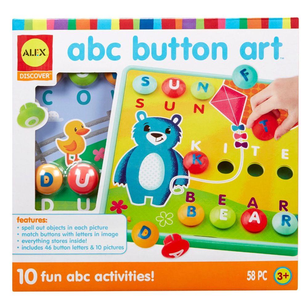 美國 ALEX - 鈕扣拼拼樂-ABC