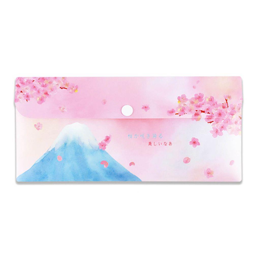 珠友 - PP信封袋/口罩收納袋-01富士櫻