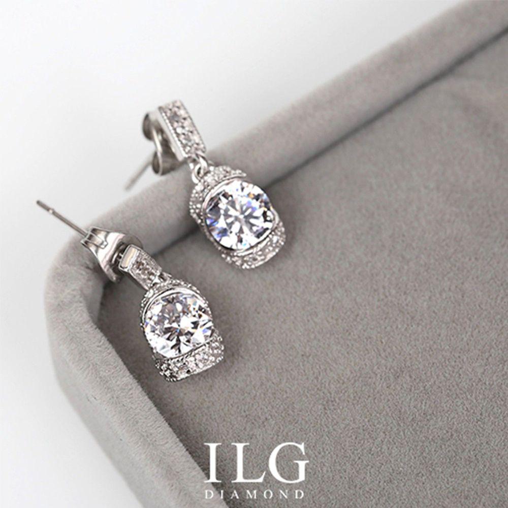 美國ILG鑽飾 - Shining Belle 閃耀佳麗 0.75克拉-頂級美國ILG鑽飾,媲美真鑽亮度的鑽飾-加贈高級珠寶級絨布盒1個-外國抗敏材質電鍍頂級白K金色