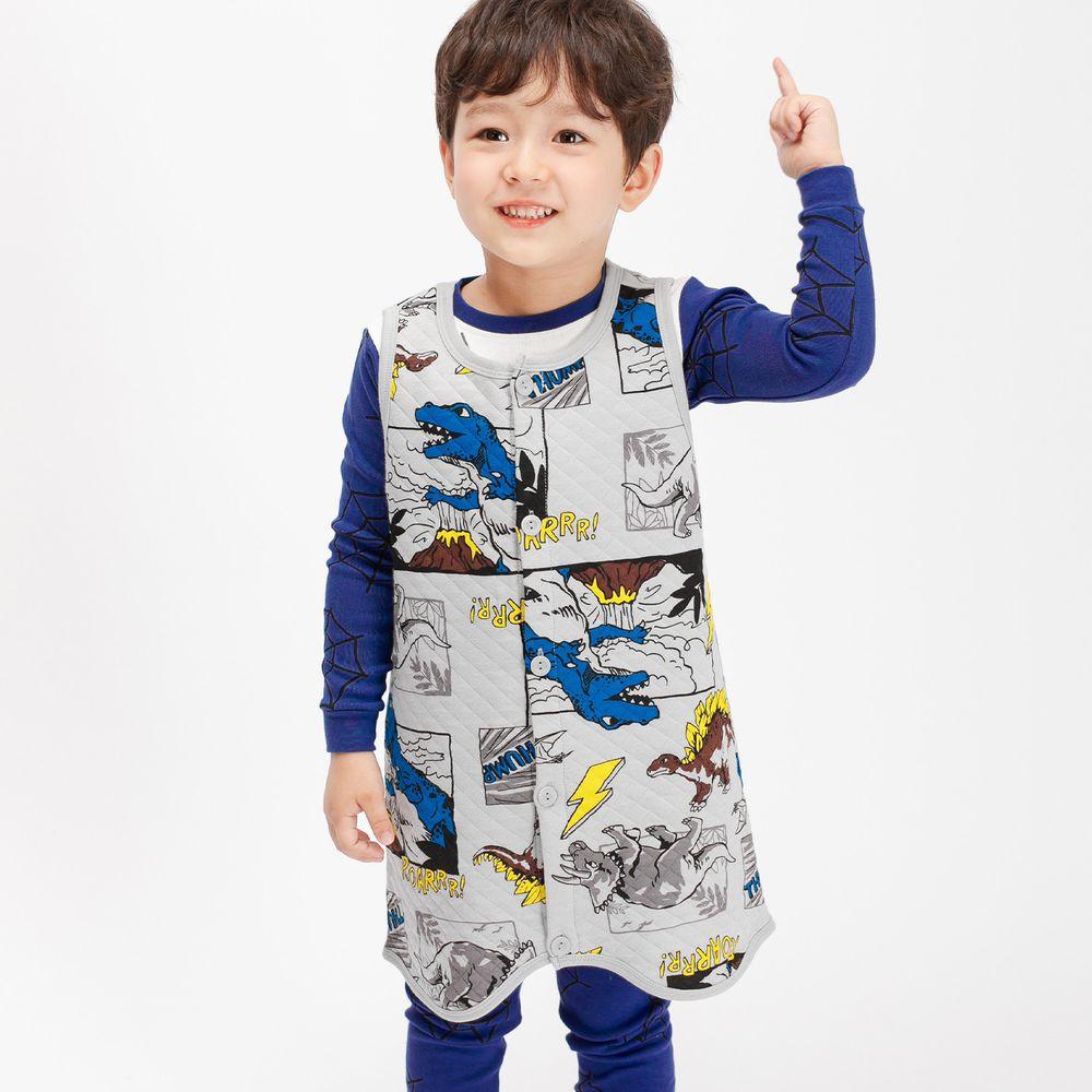 韓國 Mellisse - 韓製鋪棉保暖防踢被-恐龍世界