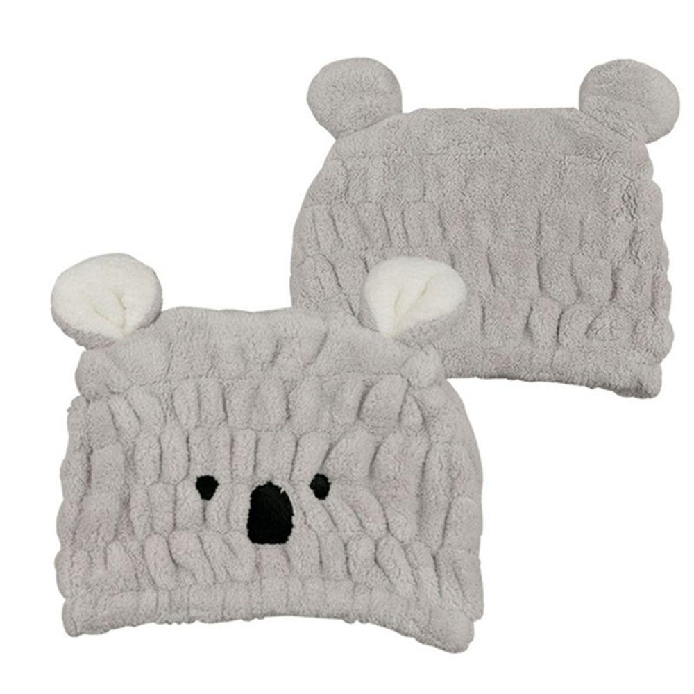 akachan honpo - 動物造型吸水乾髮帽-無尾熊-灰色 (頭圍44~80cm)