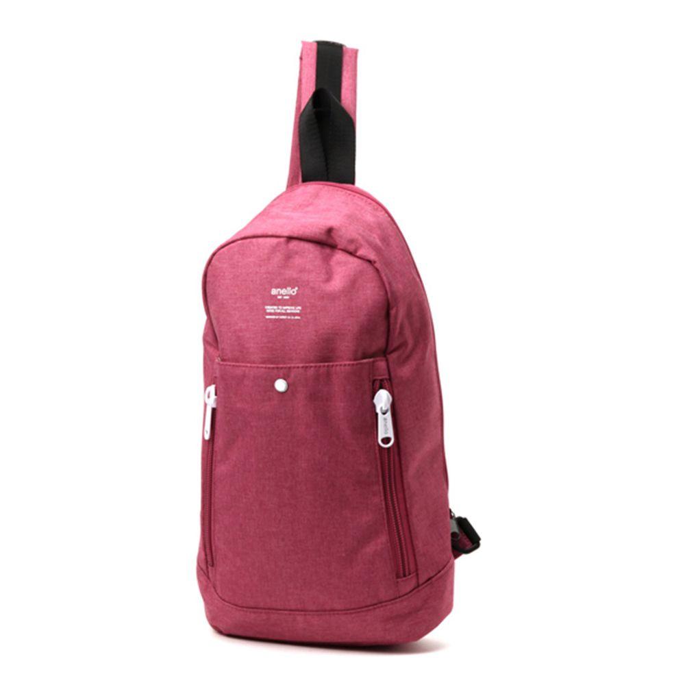 日本 Anello - 牛津布外出單肩包-Regular-PI粉色