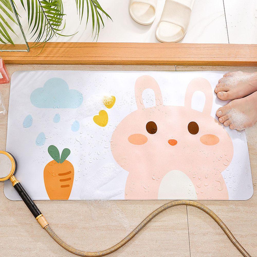 浴室超強吸力止滑腳踏墊-兔兔小蘿蔔 (40x70cm)