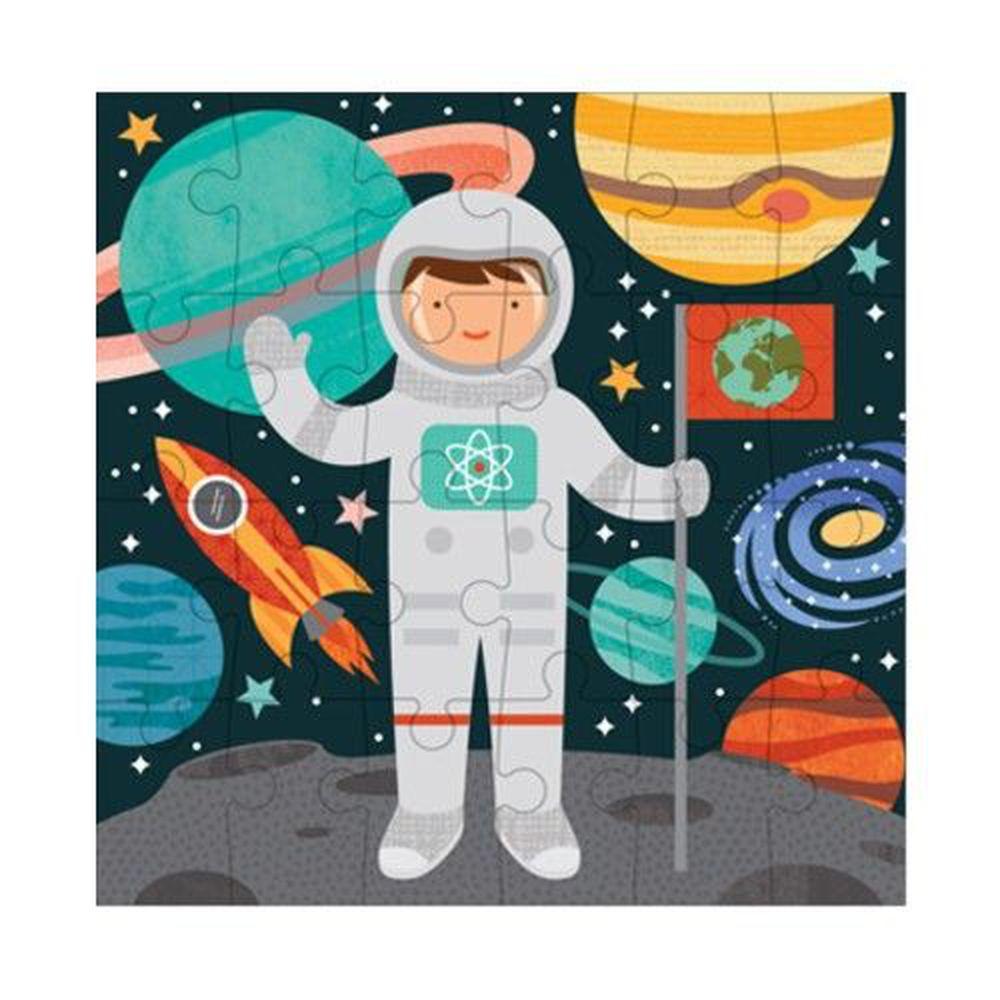 美國 Petit Collage - 小拼圖-太空人-24片