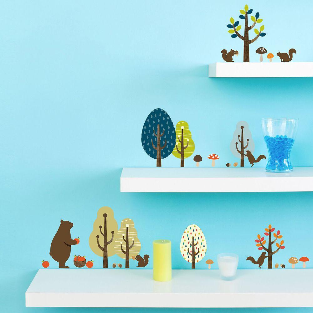 日本 TOKYO STICKER - 日本製 質感無邊框壁貼 [基本款]-森林豐收祭 (A4)