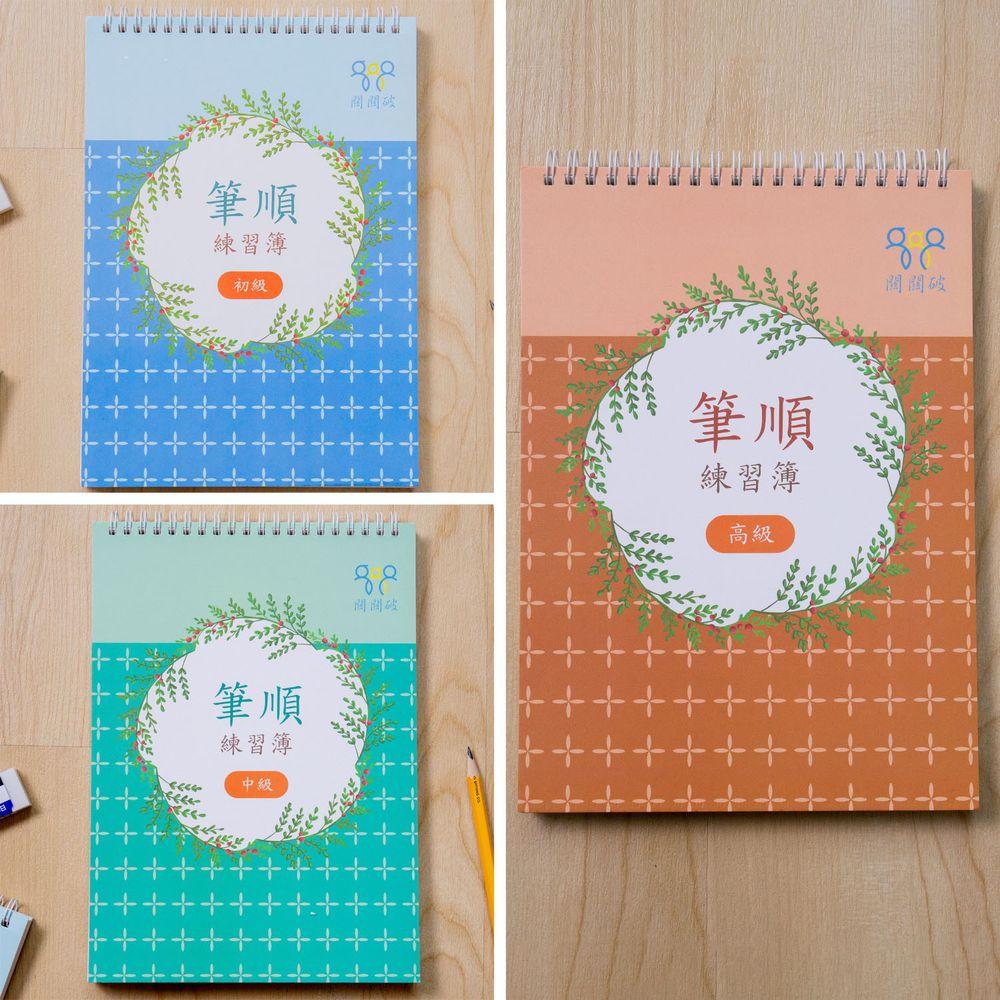 筆順練習簿-初中高3入套組-暢銷教養作家王麗芳老師研發