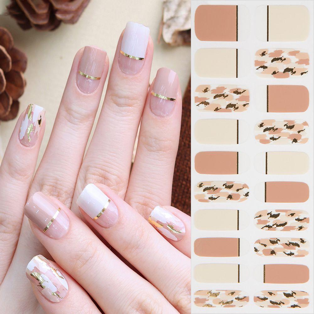 韓國 Glossy Blossom - 美甲貼-氣質裸色-一張20貼+美甲貼磨甲棒