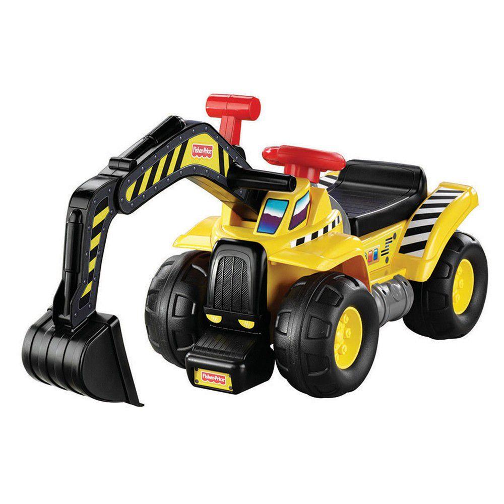 美國Fisher-Price 費雪 - 費雪牌工程車-挖土機