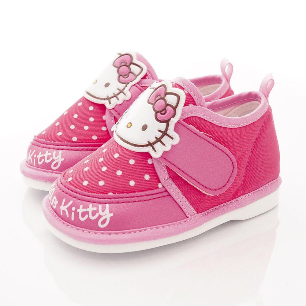 HELLO KITTY - Q軟嗶嗶學步鞋款(寶寶段)-桃