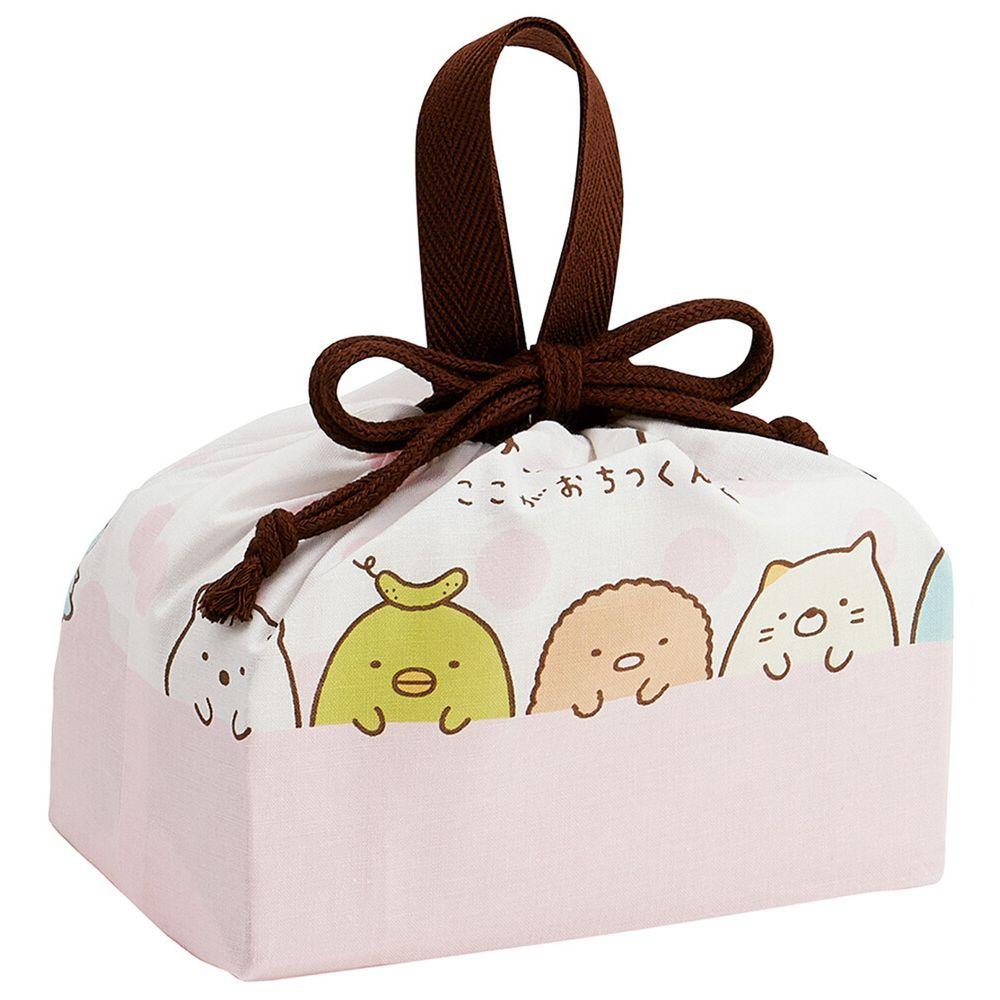 日本 SKATER 代購 - 日本製純棉束口手提袋-角落生物排排坐 (29x16.5x12cm)-KB7