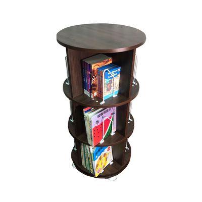 360° 旋轉書櫃-三層式-深木紋-支架12入+水平儀4入