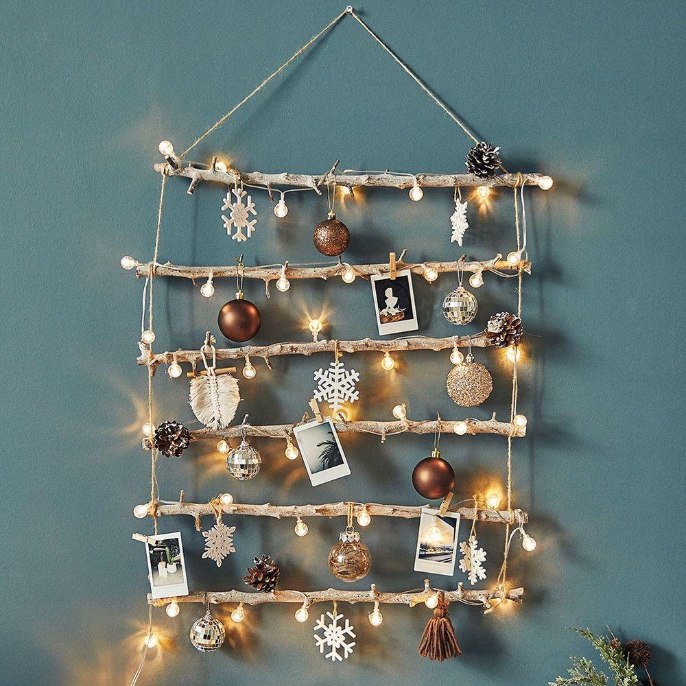 韓國 - 聖誕樹/聖誕壁飾燈(方型)-流光歲月 (樹高60cm,樹寬50cm)