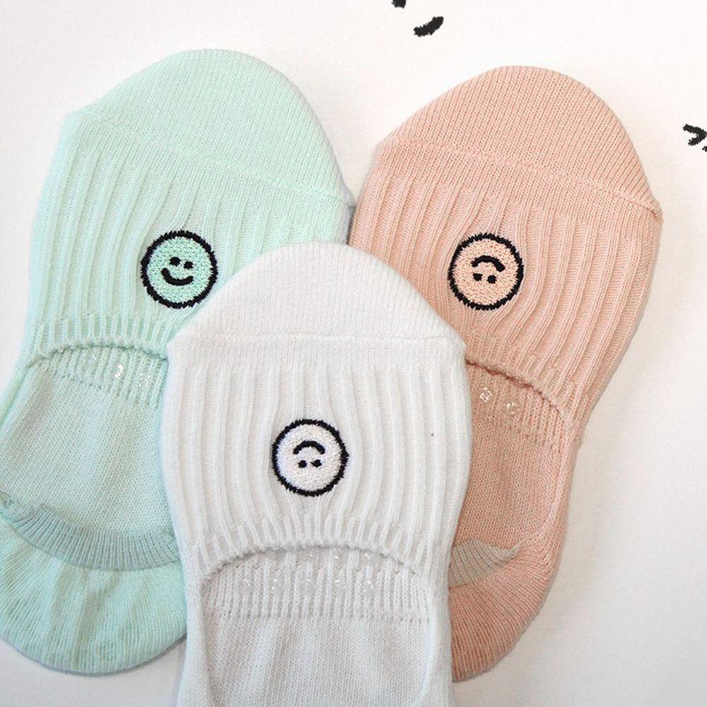 韓國 Kokacharm - 韓國製船型襪-三件組-SMILE SOCKS