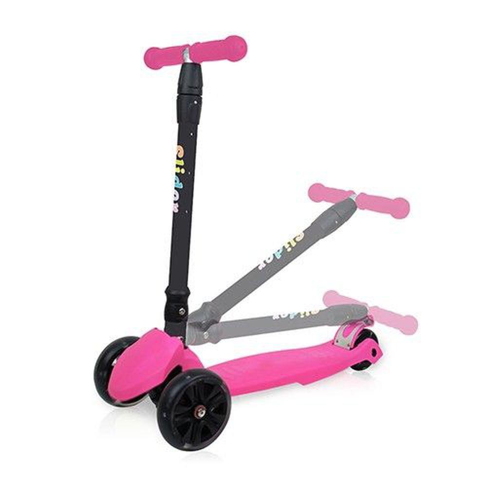 Slider 滑來滑趣 - 兒童三輪折疊滑板車XL1-螢光粉