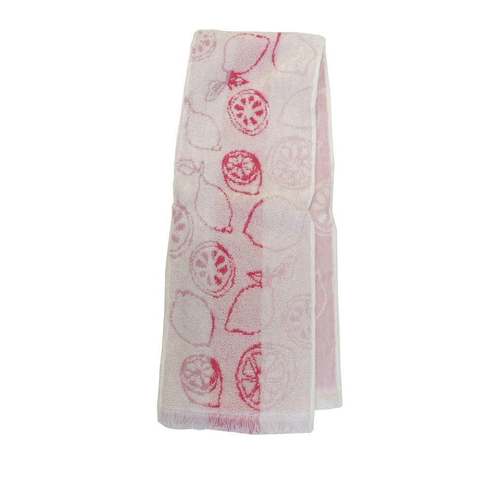 日本涼感雜貨 - 日本製 Eco de COOL 接觸冷感長毛巾-檸檬-粉紅 (90x16cm)