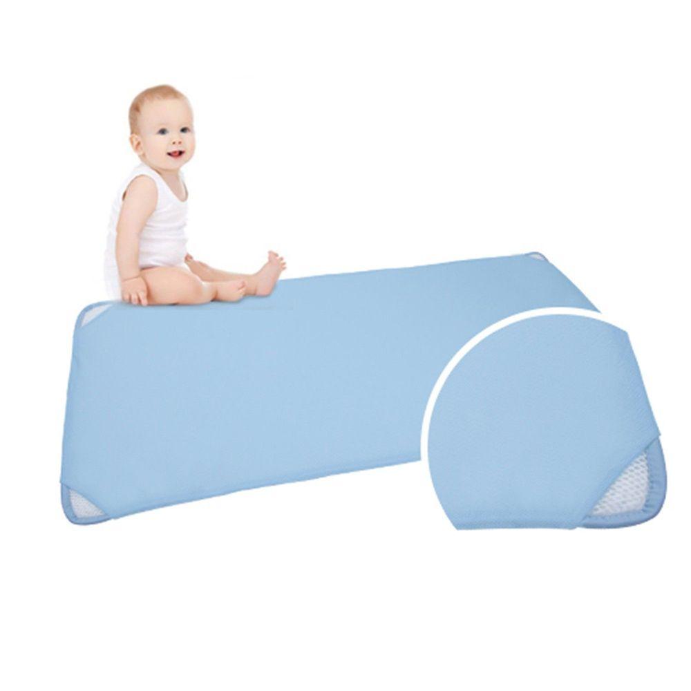 韓國 GIO Pillow - 智慧二合一有機棉超透氣排汗嬰兒床墊-藍色 (M號)