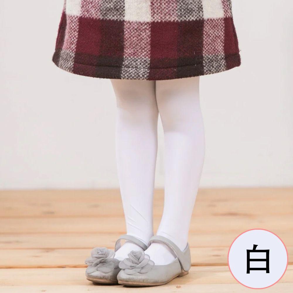 貝柔 Peilou - 女童彈性褲襪-純色(2雙組)-白色