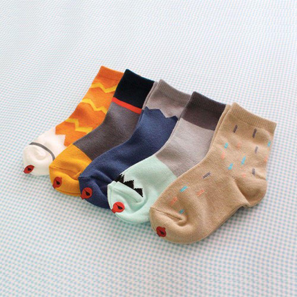 韓國 Kokacharm - 韓國製踝襪-五件組-Unique socks