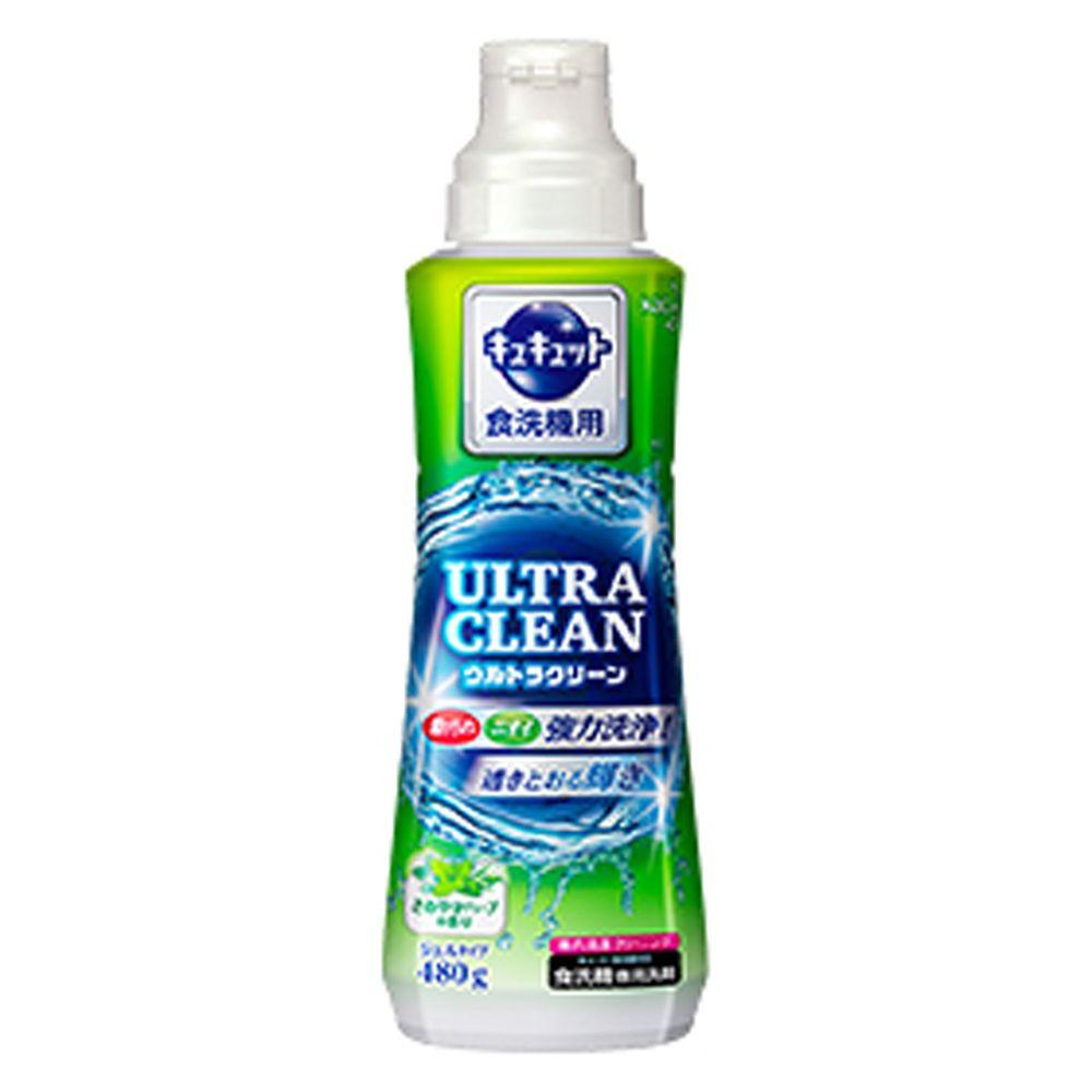 日本花王 - ULTRA CLEAN 洗碗機用強效洗碗精-草葉微香-480g
