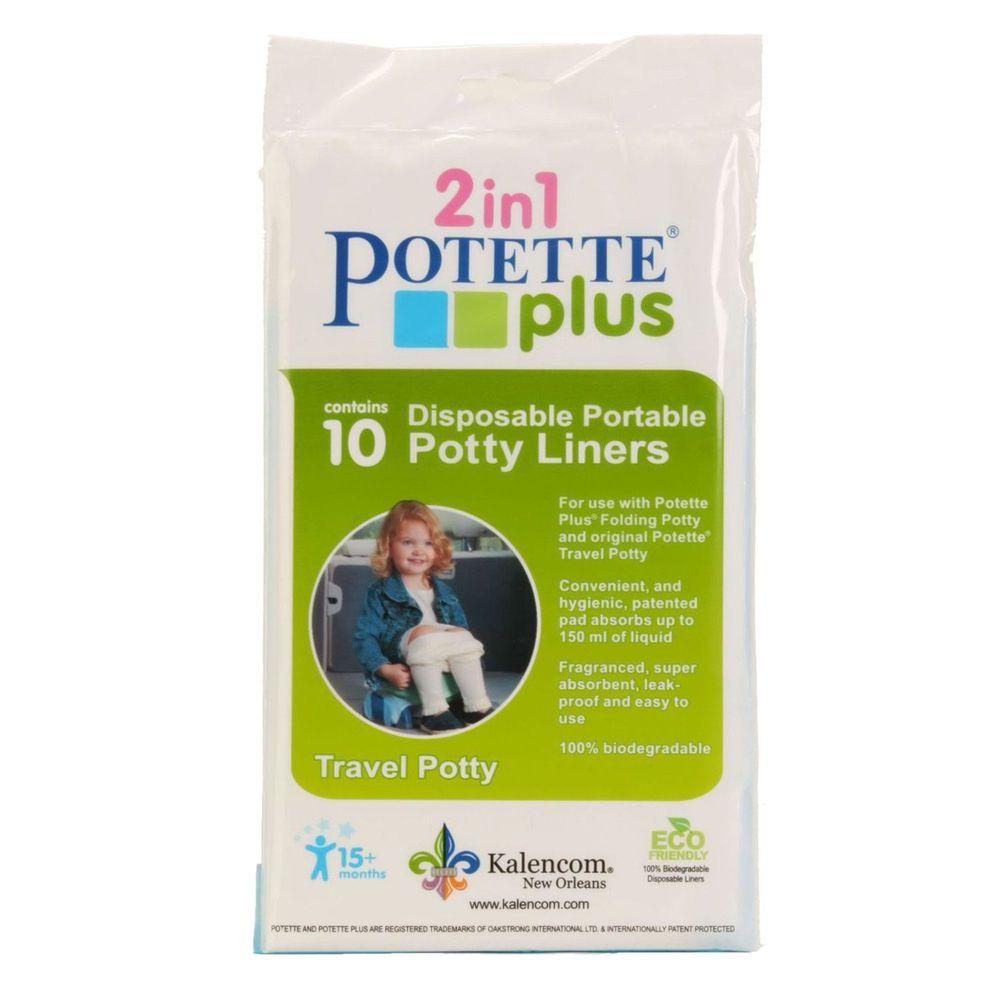 美國 Potette Plus - 拋棄式防漏袋 10入裝)