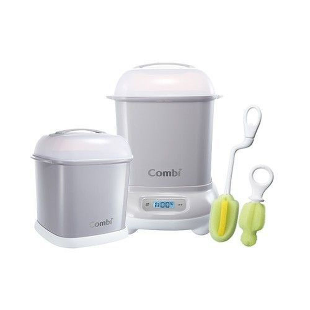 日本 Combi - Pro 360高效消毒烘乾鍋-超值優惠組 H-寧靜灰-消毒鍋+保管箱+刷具組