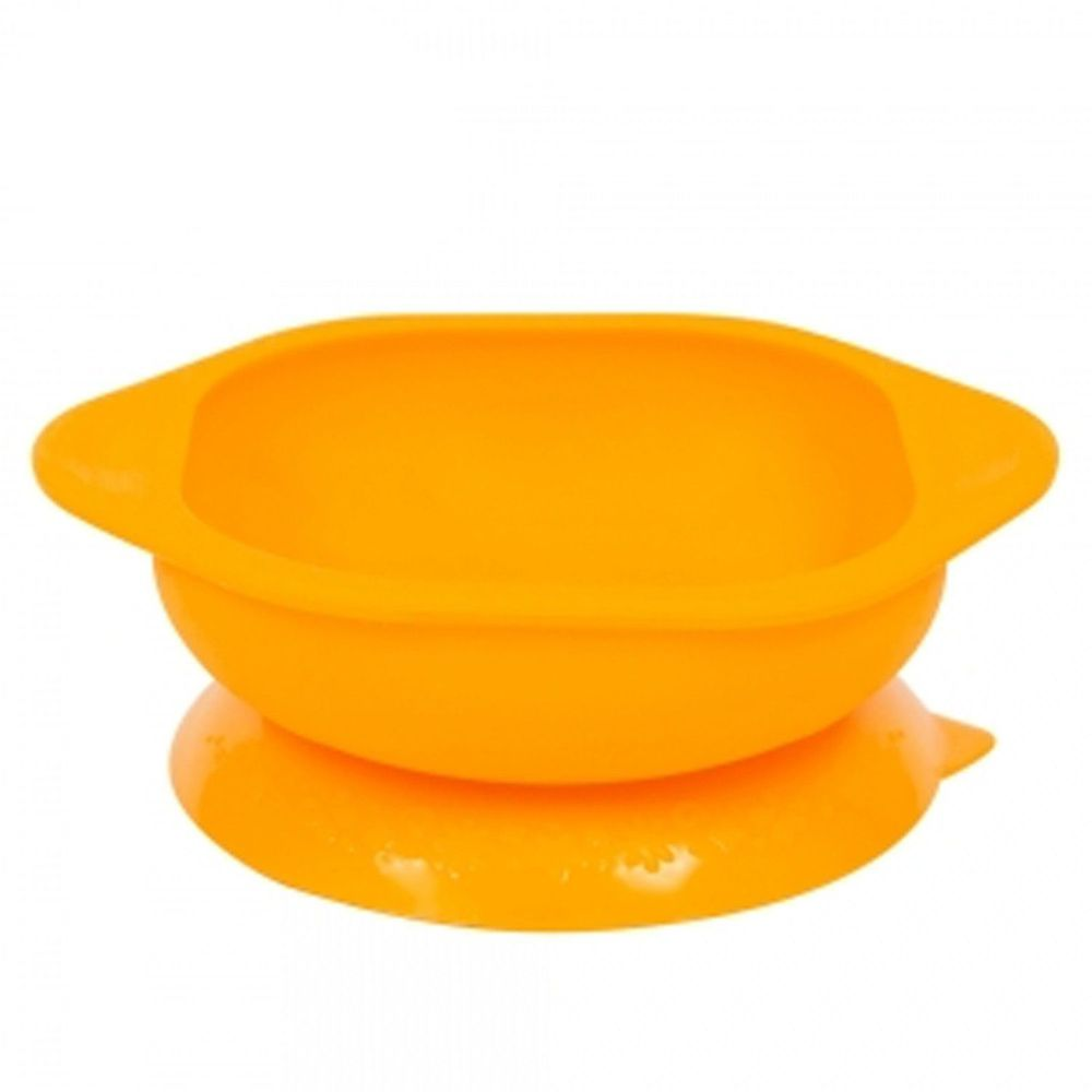 MARCUS&MARCUS - 動物樂園矽膠防漏幼兒學習吸盤碗-黃長頸鹿