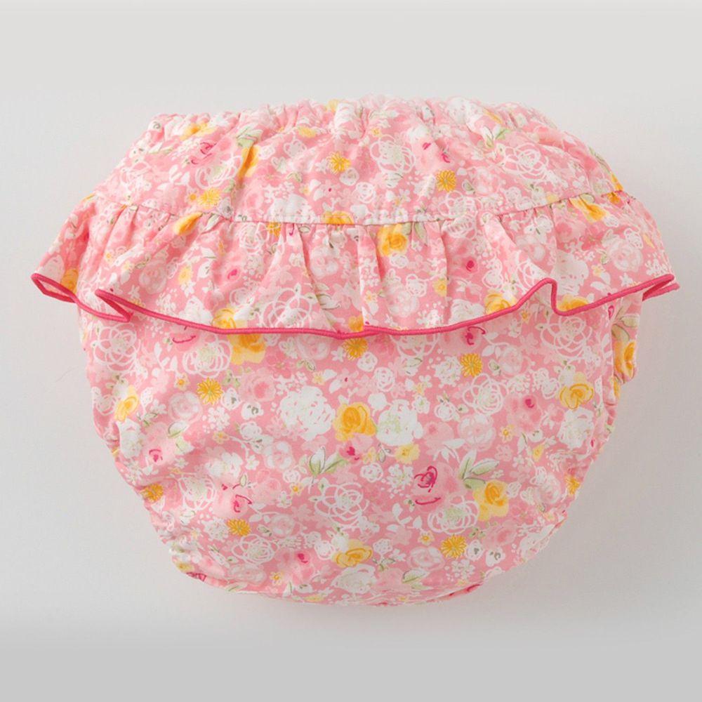 日本 Chuckle Baby - 日本製三層學習褲-玫瑰蕾絲裙-粉-分離式