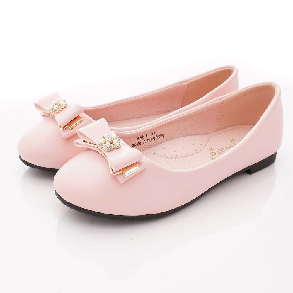 PV日式私藏 - 專櫃童鞋-鑽飾蝴蝶結公主鞋款(中小童段)-桃