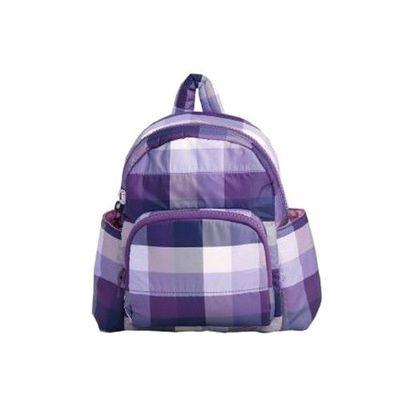 HARU 日本布料-小童背包-KIDS BAG-糖果紫 (背面為同色布料)