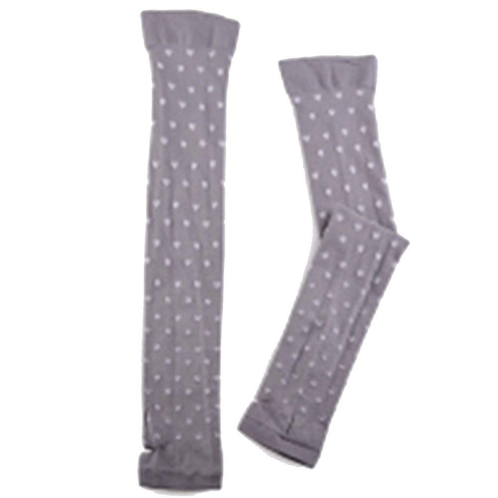 貝柔 Peilou - 高效涼感防蚊抗UV袖套-愛心-灰