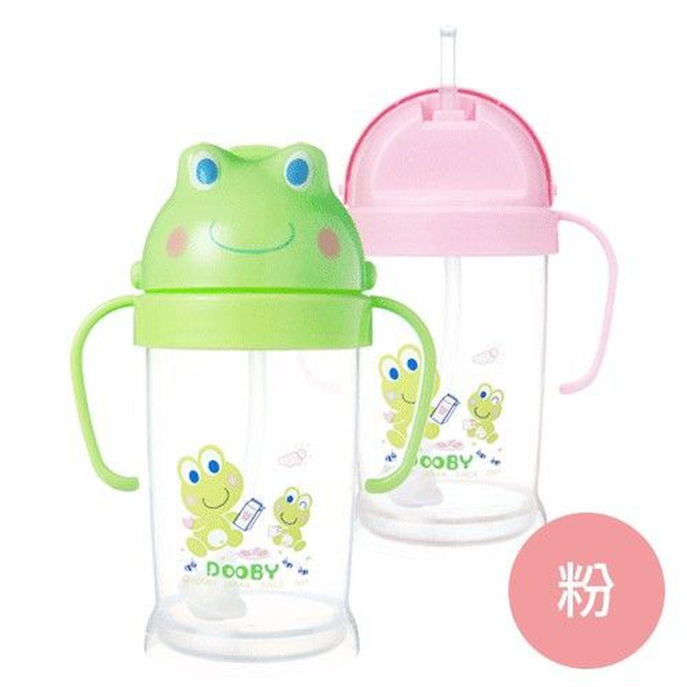 DOOBY 大眼蛙 - 卡通神奇喝水杯-粉色 (250mL-8個月起)