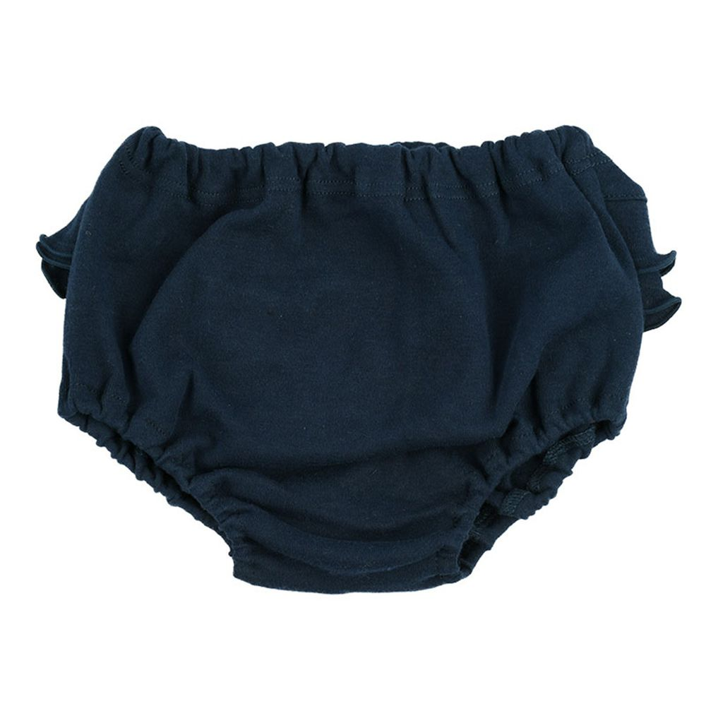 akachan honpo - 荷葉邊內褲-素面-深藍色 (80~95cm)