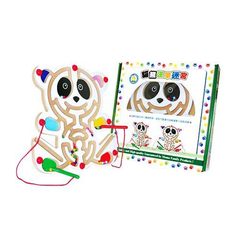 小牛津 - 小牛津貓熊彩色運筆迷宮-磁筆2枝+迷宮盤1組