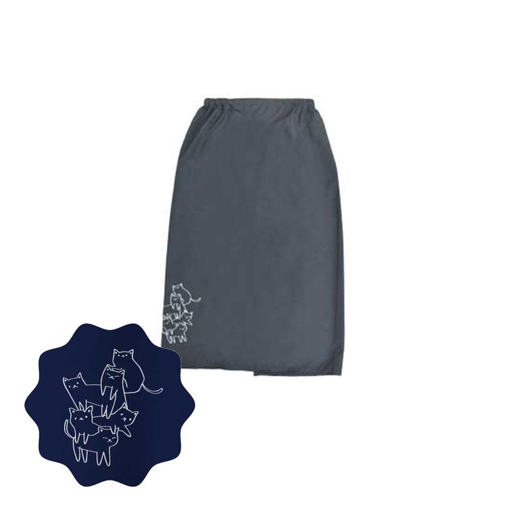 貝柔 Peilou - 貝柔貓日記防風防潑水遮陽裙-疊疊樂-鐵灰
