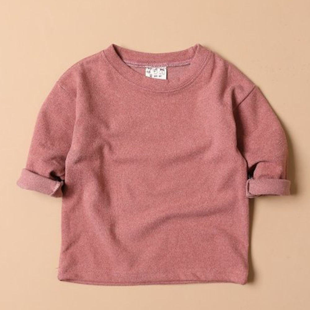 韓國製 - 毛面內搭衣-玫瑰粉